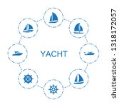 8 yacht icons. trendy yacht... | Shutterstock .eps vector #1318172057