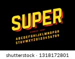 comics style font design ... | Shutterstock .eps vector #1318172801