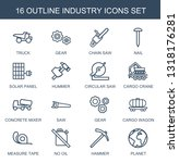 16 industry icons. trendy... | Shutterstock .eps vector #1318176281
