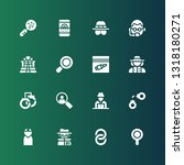 detective icon set. collection... | Shutterstock .eps vector #1318180271