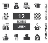 linen icon set. collection of... | Shutterstock .eps vector #1318180361