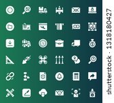 interface icon set. collection... | Shutterstock .eps vector #1318180427