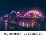 night view at da nang city ... | Shutterstock . vector #1318183784