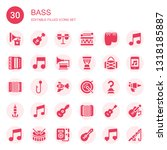 bass icon set. collection of 30 ... | Shutterstock .eps vector #1318185887