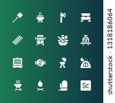 picnic icon set. collection of... | Shutterstock .eps vector #1318186064
