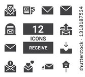 receive icon set. collection of ... | Shutterstock .eps vector #1318187534
