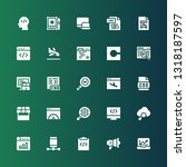 optimization icon set.... | Shutterstock .eps vector #1318187597