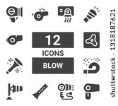 blow icon set. collection of 12 ... | Shutterstock .eps vector #1318187621