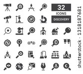 discovery icon set. collection...   Shutterstock .eps vector #1318187681