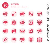 horn icon set. collection of 20 ... | Shutterstock .eps vector #1318187684