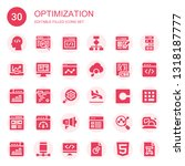 optimization icon set.... | Shutterstock .eps vector #1318187777