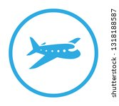 airplane icon. vector... | Shutterstock .eps vector #1318188587