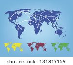 vector illustration of world... | Shutterstock .eps vector #131819159