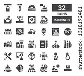 machinery icon set. collection... | Shutterstock .eps vector #1318192481