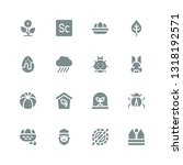spring icon set. collection of... | Shutterstock .eps vector #1318192571