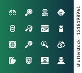 detective icon set. collection... | Shutterstock .eps vector #1318198961