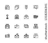 editable 16 e mail icons for... | Shutterstock .eps vector #1318206341
