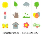 spring season nature  vector... | Shutterstock .eps vector #1318221827