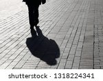 Black Shadow And Silhouette Of...