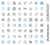 discount icons set. collection... | Shutterstock .eps vector #1318235237