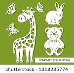 Silhouettes Of Giraffe  Teddy...