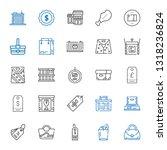 merchandise icons set.... | Shutterstock .eps vector #1318236824