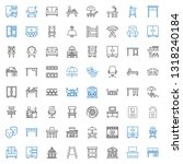 chair icons set. collection of... | Shutterstock .eps vector #1318240184