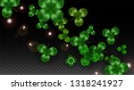 vector clover leaf  isolated on ... | Shutterstock .eps vector #1318241927