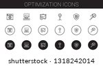 optimization icons set.... | Shutterstock .eps vector #1318242014
