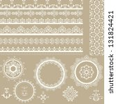 vector lacy vintage ribbons ...