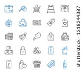 merchandise icons set.... | Shutterstock .eps vector #1318244387