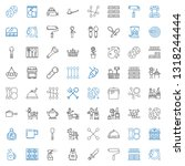 utensil icons set. collection... | Shutterstock .eps vector #1318244444