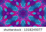 whimsical ethnic seamless... | Shutterstock .eps vector #1318245077