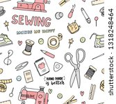 sewing seamless pattern in nice ...   Shutterstock .eps vector #1318248464