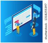 isometric online business... | Shutterstock .eps vector #1318255397