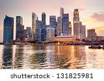 Skyline Of Singapore At A...