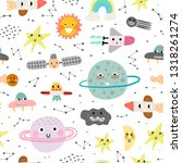 cute seamless pattern with... | Shutterstock .eps vector #1318261274