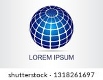 abstract technology logo... | Shutterstock .eps vector #1318261697