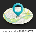 isometric round city map... | Shutterstock .eps vector #1318263077