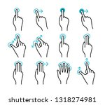 touchscreen gestures collection.... | Shutterstock .eps vector #1318274981