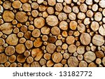 Abstract Wood Log Background...