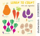 learn to count from 1 to 5  ... | Shutterstock .eps vector #1318280051