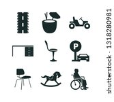 9 chair icon set | Shutterstock .eps vector #1318280981