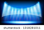 illuminated stage on the... | Shutterstock .eps vector #1318281011
