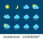 set of weather icons flat... | Shutterstock .eps vector #1318282067