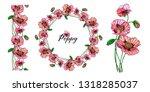 vegetable vector set of flower... | Shutterstock .eps vector #1318285037