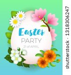 easter party  twenty first of... | Shutterstock .eps vector #1318306247