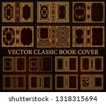 vector classical book cover.... | Shutterstock .eps vector #1318315694