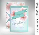 happy birthday gift card... | Shutterstock .eps vector #1318317161