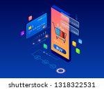 online shopping  sale ... | Shutterstock .eps vector #1318322531